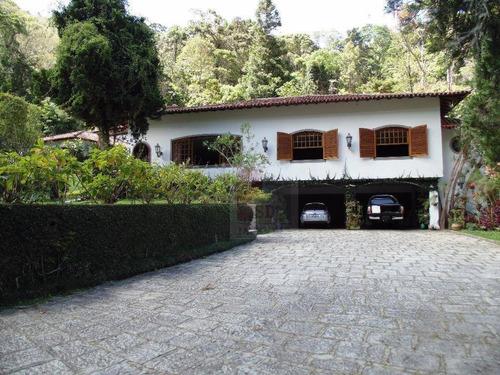 Casa Com 4 Dormitórios À Venda, 390 M² Por R$ 2.800.000,00 - Cascata Dos Amores - Teresópolis/rj - Ca0522
