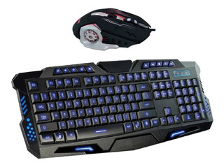 Combo Teclado + Mouse 3200dpi Gamer Usb Retroiluminado Kl112