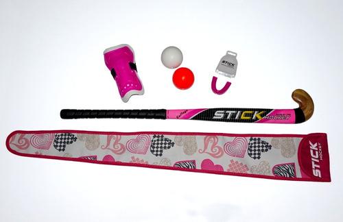 Combo Hockey Stick Palo Funda Canillera Bucal Bocha