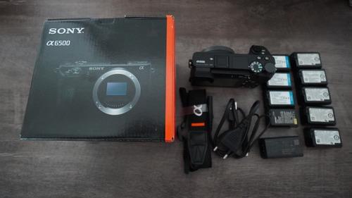 Camera Sony A6500 Na Caixa Com 9 Baterias  1639  Cliques
