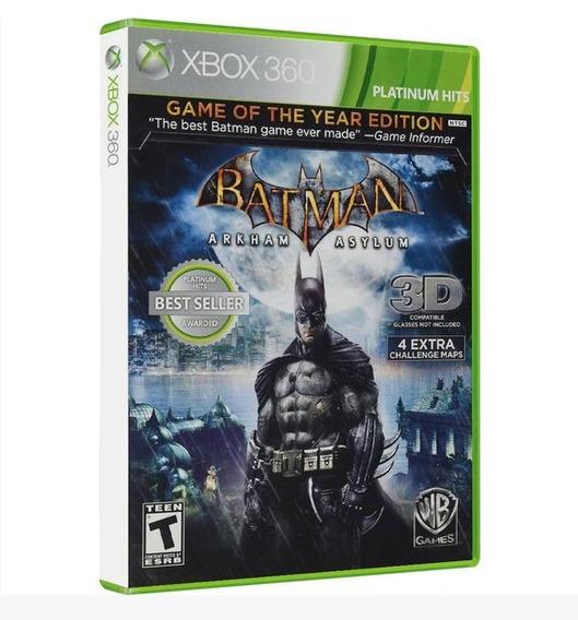 Batman: Arkham Asylum Goty Xbox 360 Original Midia Fisica