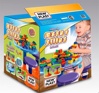 Mesa Y Silla New Plast Con Bloques Para Armar Y Cocina Cuot