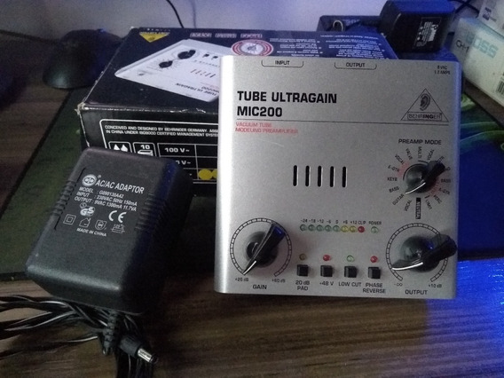 Pre Amplificador Beringer Ultragain Mic 200