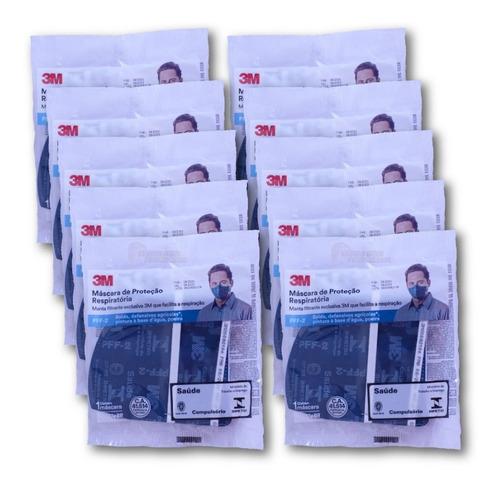 Imagem 1 de 7 de 10 Máscara 3m Pff2 N95 9820proteção Respiratória Inmetro Nfe