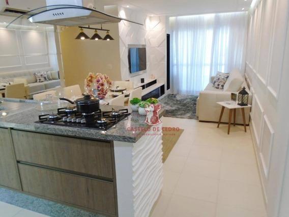 Apartamento Com 3 Dormitórios À Venda, 100 M² Por R$ 780.000 - Boqueirão - Praia Grande/sp - Ap2617