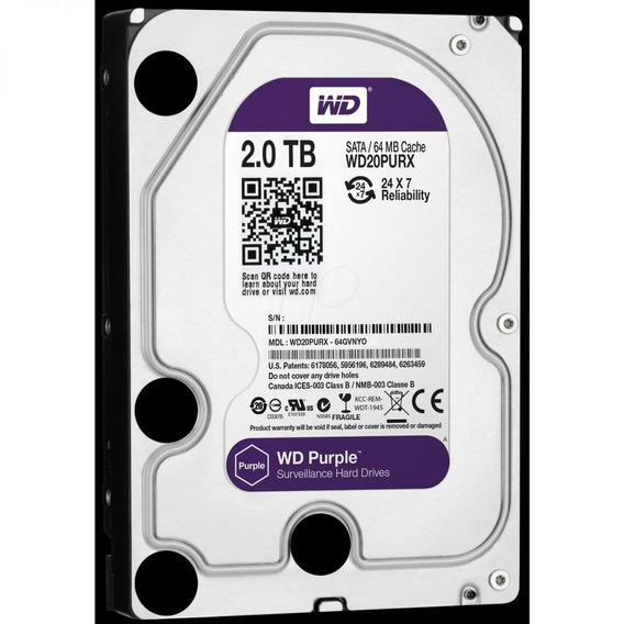 Hd Purple 2tb Sata 6 Gb/s 5400rpm 64mb Wd20purx
