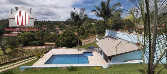 Linda Chácara Com 03 Dormitórios, Piscina, Área Gourmet E Vista Deslumbrante À Venda, 1000 M² Por R$ 350.000 - Ch0188