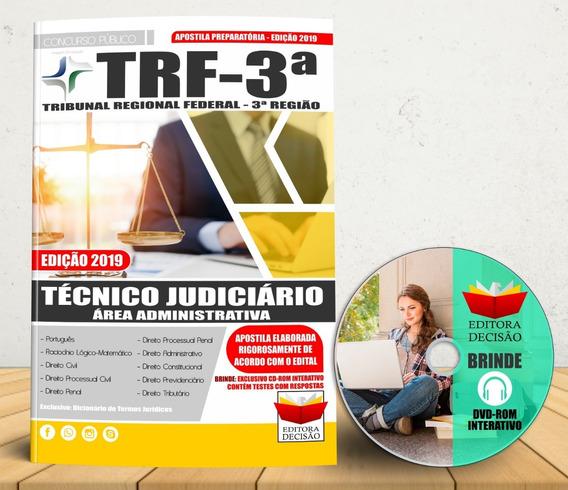 Apostila Trf 3º Região Técnico Judiciário Concurso 2019