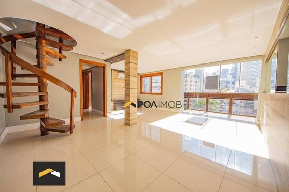 Cobertura Com 3 Dormitórios Para Alugar, 208 M² Por R$ 5.500,00/mês - Bela Vista - Porto Alegre/rs - Co0246