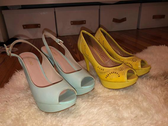 2 Pares De Zapatos (via Uno) Talle 40