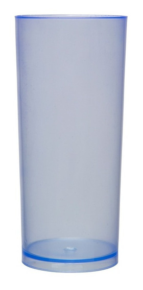 Kit 100 Copos Long Drink 370ml Azul Neon