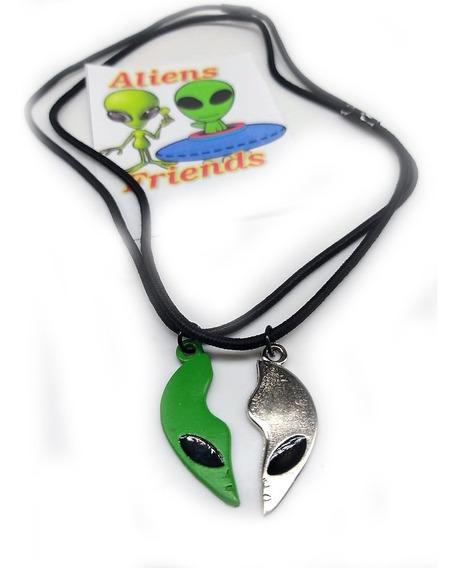 Colar Best Friends Alien Et Alienigena Da Amizade 2 Partes