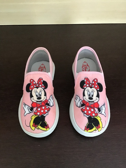 Sapatinho Infantil Minnie Tenis Personagem Kids Calçados