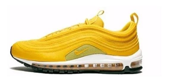 Sapato Masculino Air Max 97 Se Gel Bolha Refletivo Preto