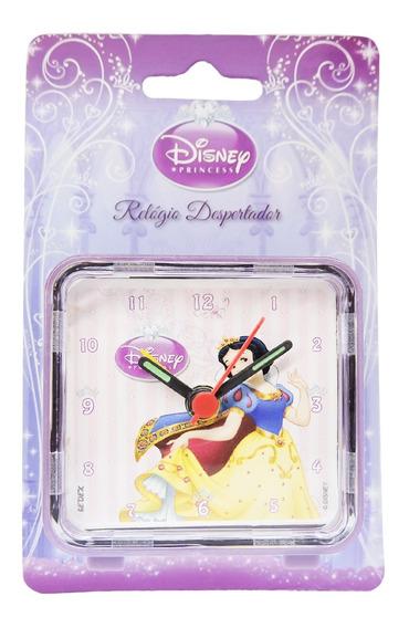 Mini Relógio Despertador Branca De Neve Princesas Disney