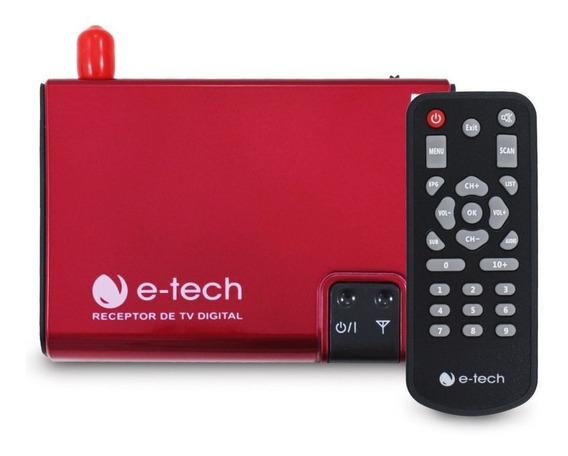 Receptor Tv Digital Automotivo Full Hd E-tech Som Carro