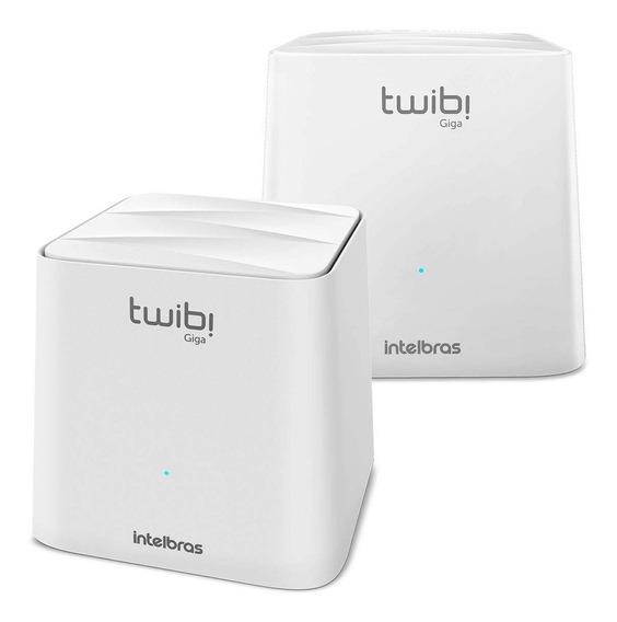 Roteador Intelbras Twibi Giga Mesh Ac 1200 2 Unidades Branco