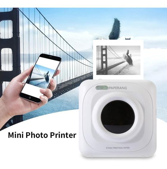 Portátil Impressora Bluetooth 58mm Mini Impressora Foto Térm