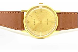 Reloj Rolex Precision Oro 18k Y Cuero Cuotas