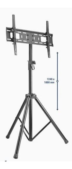 7896643442351 Pedestal De Chão Para Tv Tela Plana 70 Pol 1240 A 1880 Cms Preto