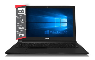 Notebook Core I3 Acer 7020u Aspire 4gb 1tb 15.6 W10