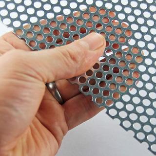 Rejilla Malla Lámina Perforada Acero Bafles Bocina 1x1.22mt.