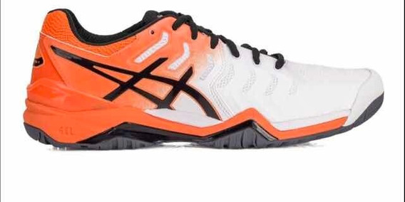 Tenis Asics Gel Resolution 7 All Court - Laranja/branco 40