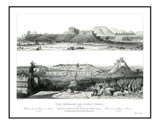 Lienzo Tela Canvas Vistas Ruinas De Uxmal Yucatán 1860 50x80