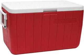 Caixa Térmica Coleman Vermelha 45,4 Litros 48 Qt Com Alças