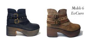 Zapato Botín Ecocuero Mujer 35-40 Oferta!!! Envió Gratis