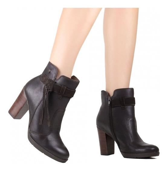 Bota Feminina Cravo E Canela Ankle Boot Marrom 161203