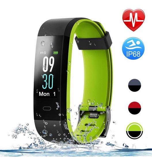 Smart Watch Pulsera Inteligente Impermeable Ip68 Verde