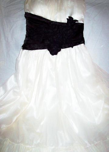 Aurojul-vestido-straples C/almohadillas Inc.gasa/raso Forrad