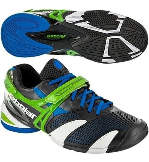 Tênis Babolat Propulse 3 Roddick, Preto/verde/azul, S/ Juros