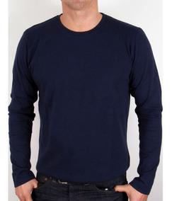 Camiseta Manga Longa Slim Fit Lisa Blusa Frio Camisa Blusão