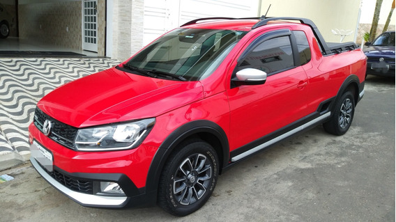 Vw Saveiro Cross 1.6 Msi 2017 Impecavel Baixa Km Revisoes Vw