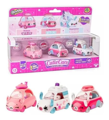 Kit Com 3 Cutie Cars Coleção Chá Da Tarde - Shopkins