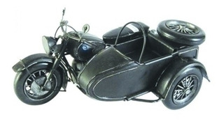Motocicleta De Metal Vintage Enfeite Decorativo