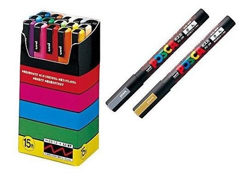 Imagen 1 de 5 de Uni-posca Marcador Pintura Pluma Conjunto Especial (b-set),