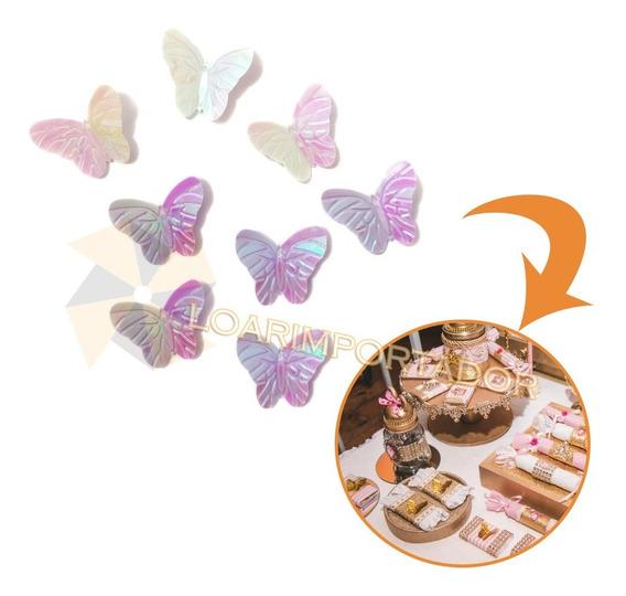 500 Mariposas Deco Cumpleaños Infantiles Tarjeta Invitacion