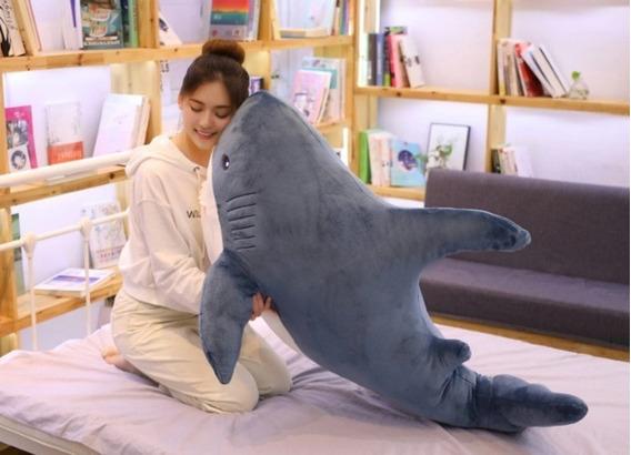 Tubarão Peixe Pelúcia Gigante 1,4 Mts Presente Aniversário