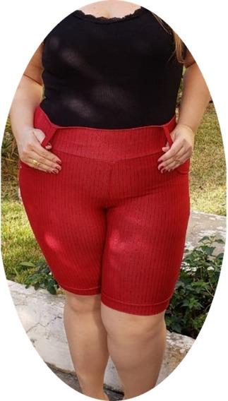 Kit C/10 Bermuda Feminina Cotton Jeans Plus Size 38-54