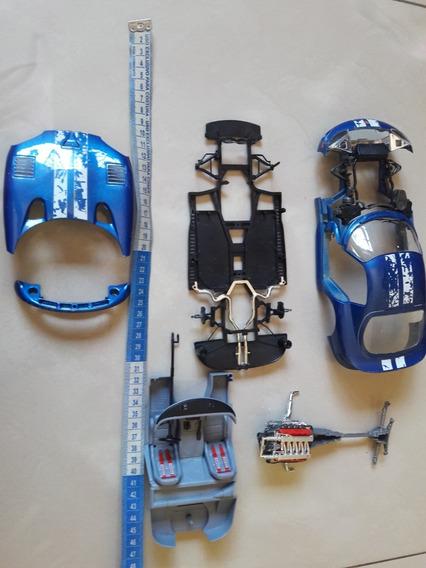 Sucata Miniatura Dodge Viper Gts Coupe Burago Escala 1/18