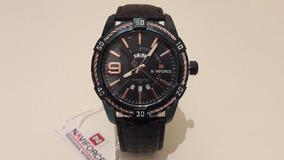 Relógio Naviforce 9117 Original Pulseira Couro + Caixa