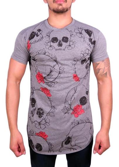 5 Camiseta Camisa Masculina Longline Fé Florido Revenda