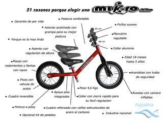 Mikro Bike - Camicleta - Balance Bike - Con Kit De Pedales