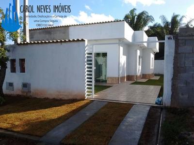 2712 - Casa Nova Lado Praia No Centro De Itanhaém Só 139mil!