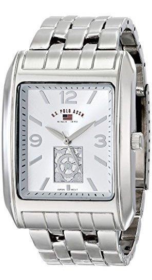Polo Assn. Classic Us8441 Reloj De Pulsera Plateado Con Esfe