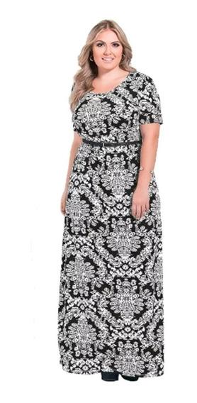 Vestido Longo Plus Size Moda Evangélica Promoção