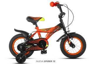 Bicicleta Aurora Varon Rodado 12 Spider + Timbre En Oferta!!